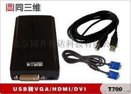 同三维T700 高清USB转VGA/HDMI/DVI转换器,支持1080P