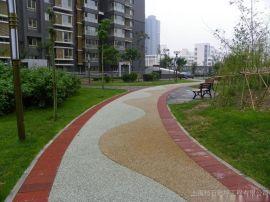 景区生态透水混凝土道路建设 漳州土楼旅游彩色透水地坪铺装