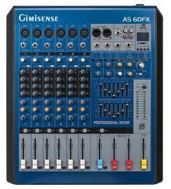 【聚美声】AS60FX系列带MP3效果器 双7段均衡器优质模拟调音台