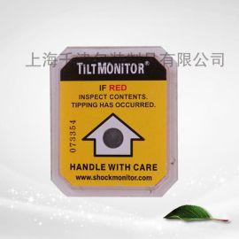 上海倾斜标签 防倾斜标贴 倾倒显示器 单角度防倾斜标贴