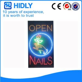 open nails广告灯箱