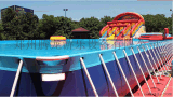广场大型水上滑梯 支架游泳池生产厂家