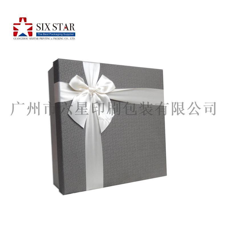 工廠定做精美帶蝴蝶結天地蓋禮品盒禮品包裝盒