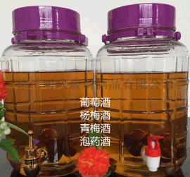 无铅加厚玻璃瓶药酒瓶泡酒瓶子酿葡萄酒坛密封罐酵素桶带龙头