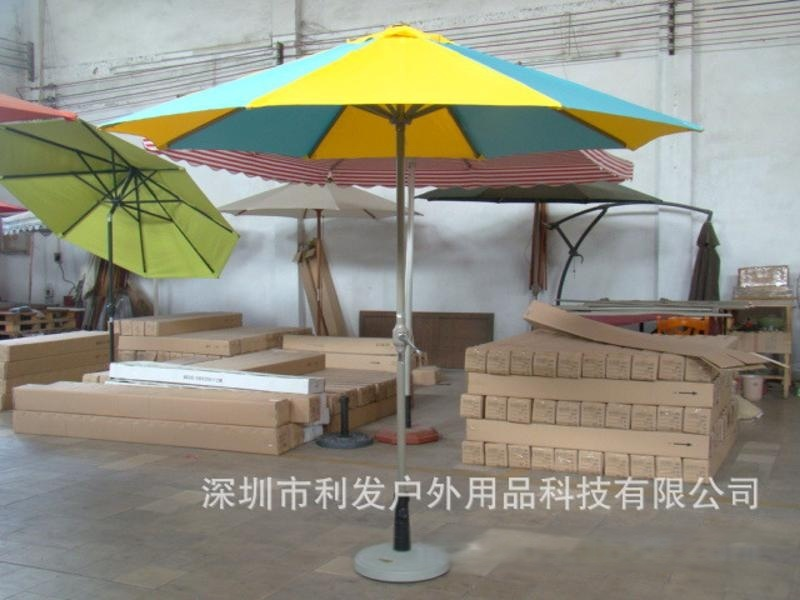 中柱伞铝合金中柱伞可印LOGO利发直销