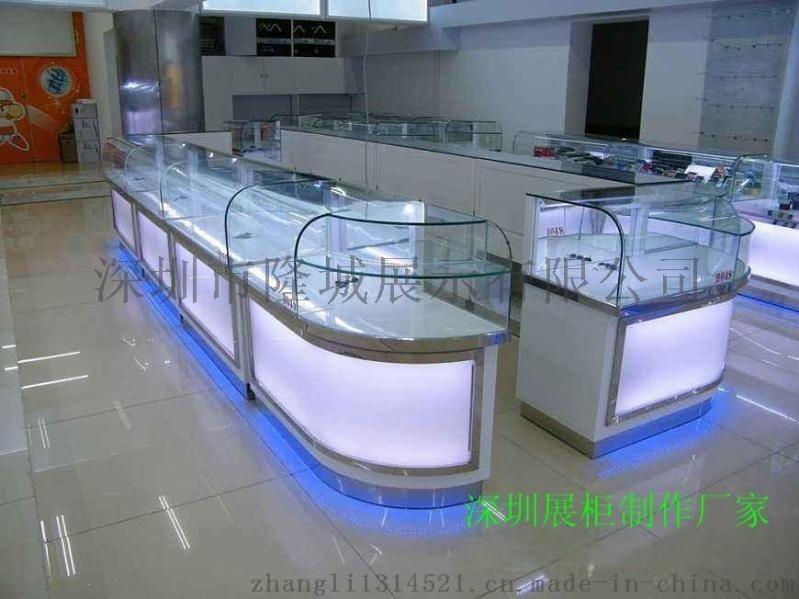 手机数码展示柜、数码展示柜设计制作、展柜尺寸可订制、