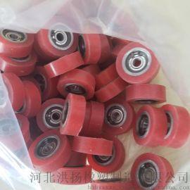 硅胶轴承包胶轮 轴承包胶滑轮