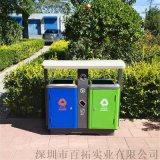 镀锌板垃圾桶户外  分类垃圾箱景区钢制垃圾桶厂家