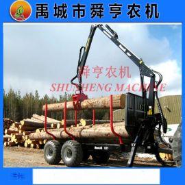 旋转式抓木机 农业林业运输拖车 自卸农用拖车
