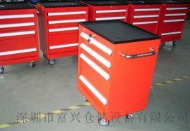钢板台面柜式工具车,带挂板工具车