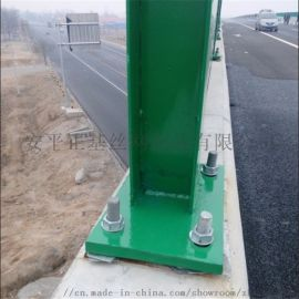 厂家定制高速公路金属PC板透明声屏障