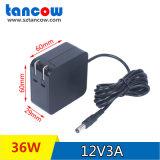 12V3A脱毛仪电源适配器高品质3C认证