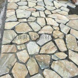 天然板岩文化石 不规则乱形 碎拼 园林景观户外铺路石 毛料荒料