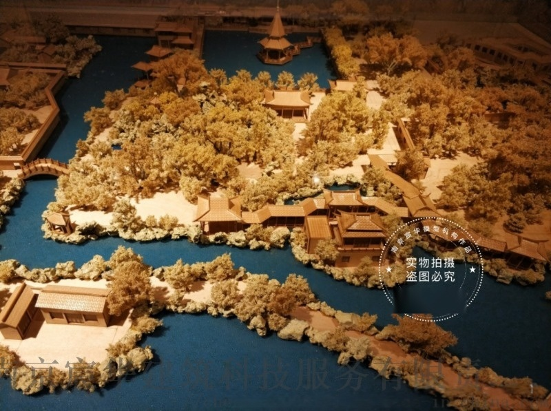 古城古镇场景复原沙盘模型定制