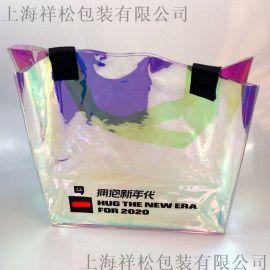 上海镭射幻彩PVC袋化妆袋包装袋手提袋礼品袋酒袋