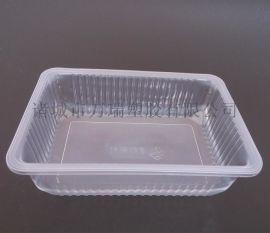 一次性透明pp锁鲜盒/海鲜干货盒/食品包装方盒