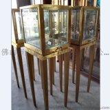 珠宝不锈钢展示道具 商场精品不锈钢陈列架