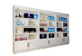 中纤板烤漆化妆品柜台定制-化妆品展柜生产厂家