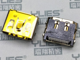 493-HDMI連接器 母座貼片四角DIP