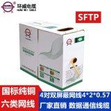 深圳廠家 環威 8芯4對六類  網線HSYV 4X2X0.57 TC 80編 混批