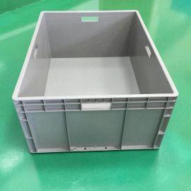 灰色塑料周转箱 全新料HDPE塑料箱 现货标准尺寸物流运输箱定做