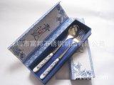 青花瓷食具 大號青花瓷勺叉 韓式勺叉兩件套