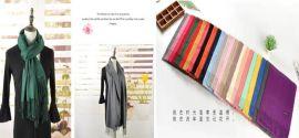 时尚女装品牌折扣店纯色保暖披肩广州石井雪莱尔特价货源