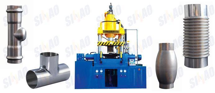 HF三通水脹機_四柱水脹液壓機_管件水脹成型液壓機_佛山優質液壓脹管機廠家