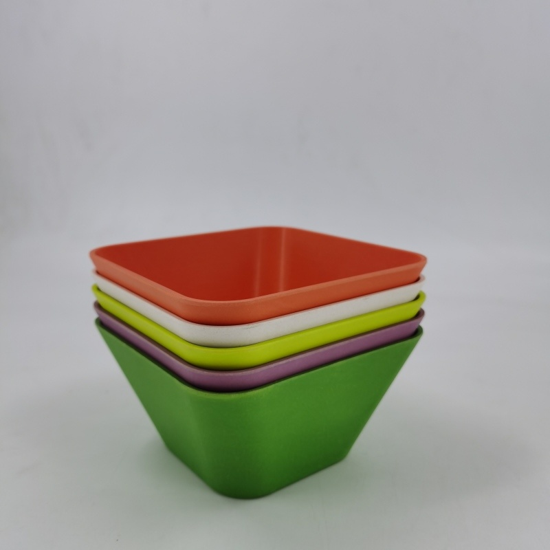 热卖环保方形竹纤维碗