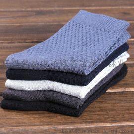 热销竹纤维纯色袜子 男士 商务休闲小方格时尚潮男透气袜厂家批发