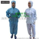 防靜電工作服防護無塵拉鍊潔淨防塵分體服套裝淨化車間連帽工衣男女