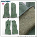 耐酸鹼作業手套 綠色尼龍丁基手套