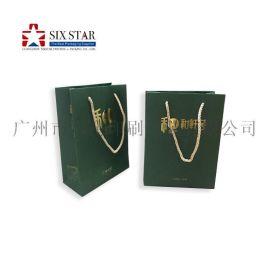 广州厂家定制Logo烫金纸袋手挽袋礼品袋