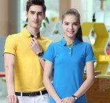 男女情侣款夏季纯棉时尚企业纯色短袖POLO衫t恤刺绣定制LOGO