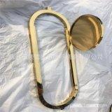 土豪金镜面不锈钢镜框  酒店钛金不锈钢洗手台镜框