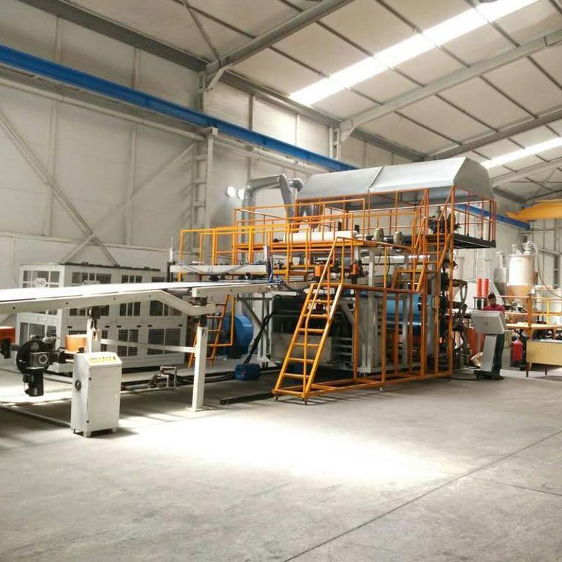 PP、PE塑料包裝板材生產線(鋼材鋼鐵保護防鏽用)