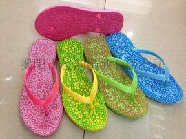 揭阳供应花状纹面塑料人字拖鞋