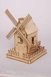 欢乐拼图,荷兰风车,立体模型,DIY手工小屋,家居摆件