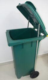 苏州滏瑞厂家直销120L脚踩加厚塑料环卫垃圾桶