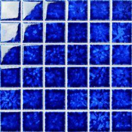 窯變系列游泳池馬賽克廠家 深藍色系列游泳池瓷磚