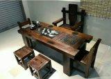 老船木茶幾簡約實木大板茶桌椅組合仿古老船木茶臺喝茶桌椅