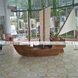 酒店木船装饰海盗船帆船定做