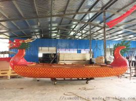 餐饮龙船 特色餐饮木船 仿古船定做