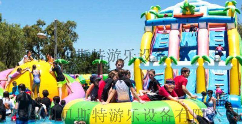 河南洛阳大型支架充气水乐园全套安装