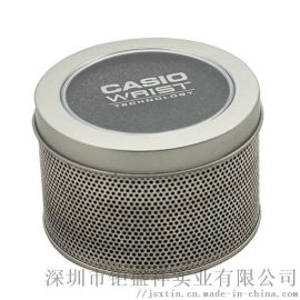 手表素铁带开窗不印刷铁盒 体育用品铁罐包装 金属网状盒