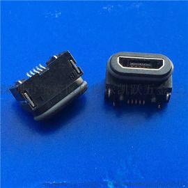 B型防水MICRO母座5P-USB防水B TYPE插板SMT帶膠圈(防水IP67)