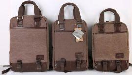 深圳訂做15.6寸雙肩電腦包戴爾聯想1417.3寸筆記本包帆布休閒男女旅行包