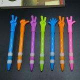 厂家直销个性卡通按压手势笔定制 广告手指笔印刷LOGO 圆珠笔批发