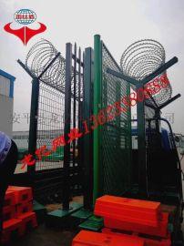 飞机场防护网Y型柱防护网监狱带刀片刺绳防攀爬护栏网