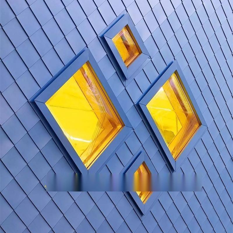 平鎖釦系統廠家 菱形平鎖扣板 鋁鎂錳板菱形鎖扣板